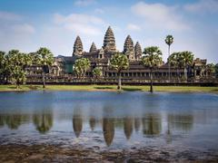Angkor Wat Temple in Siem Reap, Cambodia Stock Photos