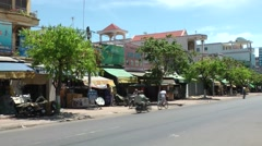 Vietnam Phú Mỹ district villages 027 typical street view with traffic Stock Footage