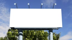 Billboard with empty screen Stock Footage