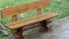 Wooden bench Stock Footage