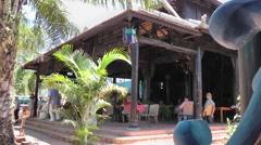 Vietnam Phú Mỹ district villages 028 an asian café house pavilion Stock Footage