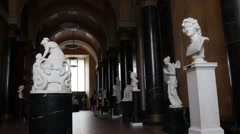 Berlin. Old National Gallery on Museum Island Stock Footage
