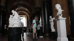 Berlin. Old National Gallery on Museum Island - stock footage