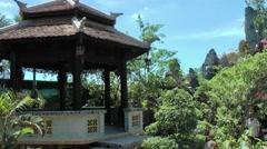 Vietnam Phú Mỹ district villages 029 an asian café house pavilion Stock Footage