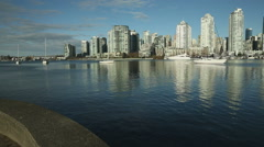 Yaletown View, False Creek Sailboats, Vancouver Stock Footage