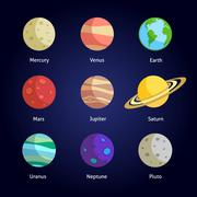 Planets decorative set Piirros