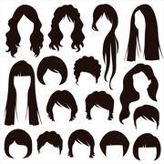 hairstyle - stock illustration