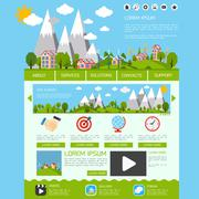 Stock Illustration of Eco website template