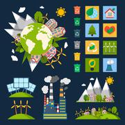 Stock Illustration of Ecology symbols set