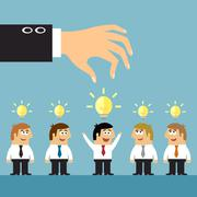 Business ideas selection concept Stock Illustration