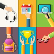 Business hands icons Stock Illustration