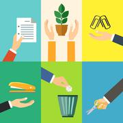 Stock Illustration of Business hands icons