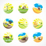 Agriculture Icons Set Stock Illustration