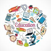 Stock Illustration of Education icon doodle