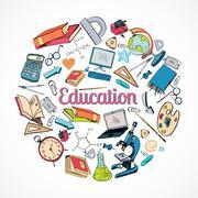 Education icon doodle Stock Illustration