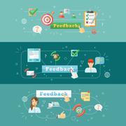Feedback web infographic Stock Illustration