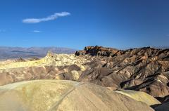 zabriskie point in death valley national park, california - stock photo