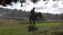 Battle of Gettysburg 150th Anniversary - Confederate Commander on horse Stock Footage