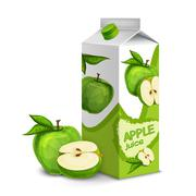 Juice pack apple Stock Illustration