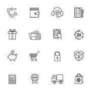 Shopping e-commerce icon Piirros