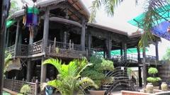 Vietnam Phú Mỹ district villages 030 an asian café house Stock Footage