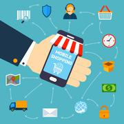 Stock Illustration of Mobile shopping concept
