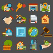 Stock Illustration of Real Estate Set