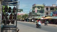 Vietnam Phú Mỹ district villages 026 colorful street view Stock Footage