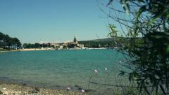 Pretty seaside village, Cres, Croatia Stock Footage