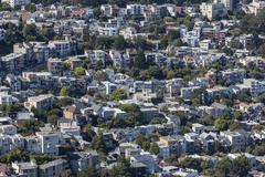 san francisco hillside neighborhood - stock photo