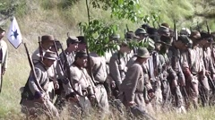 Battle of Gettysburg 150th Anniversary - Rebel sneak attack - stock footage