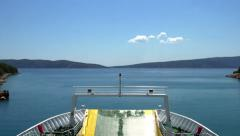 Time Lapse of Ferry Crossing Stock Footage