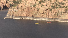 Watson Lake Kayakers Prescott Arizona Stock Footage