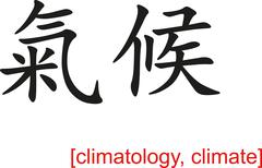 Chinese Sign for climatology, climate - stock illustration