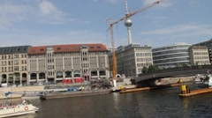 Berlin View From the River Spree Stock Footage