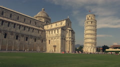 Leaning Tower of Pisa time lapse Stock Footage
