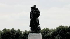 Soviet War Memorial in Treptower Park, Berlin, Germany Stock Footage