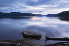Peaceful Lake at Dusk Stock Photos