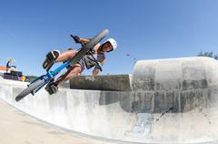 miguel semens on an air trick - stock photo