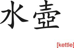 Chinese Sign for kettle - stock illustration