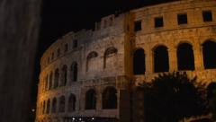 Dolly reveal on Roman Colosseum Stock Footage