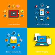 E-commerce icons set - stock illustration