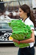 Mulhouse - france - 13 th july 2014 - tour de france - pmu advertising Stock Photos