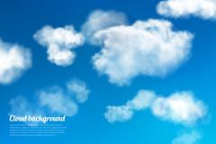 Sky clouds background Stock Illustration