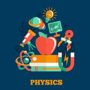 Stock Illustration of Physics science flat design