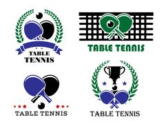 Ping-pong and table tennis symbols Piirros