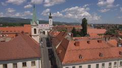 Pan ylhäältä Zagrebin vanhankaupungin Arkistovideo