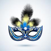 Party mask emblem - stock illustration