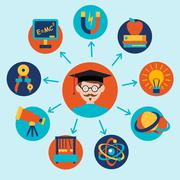 Stock Illustration of Physics science icons set