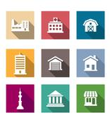 Set of architectural icons Stock Illustration